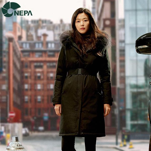 NEPA 네파 여성 아르테누오보 구스다운자켓 블랙 7G82064