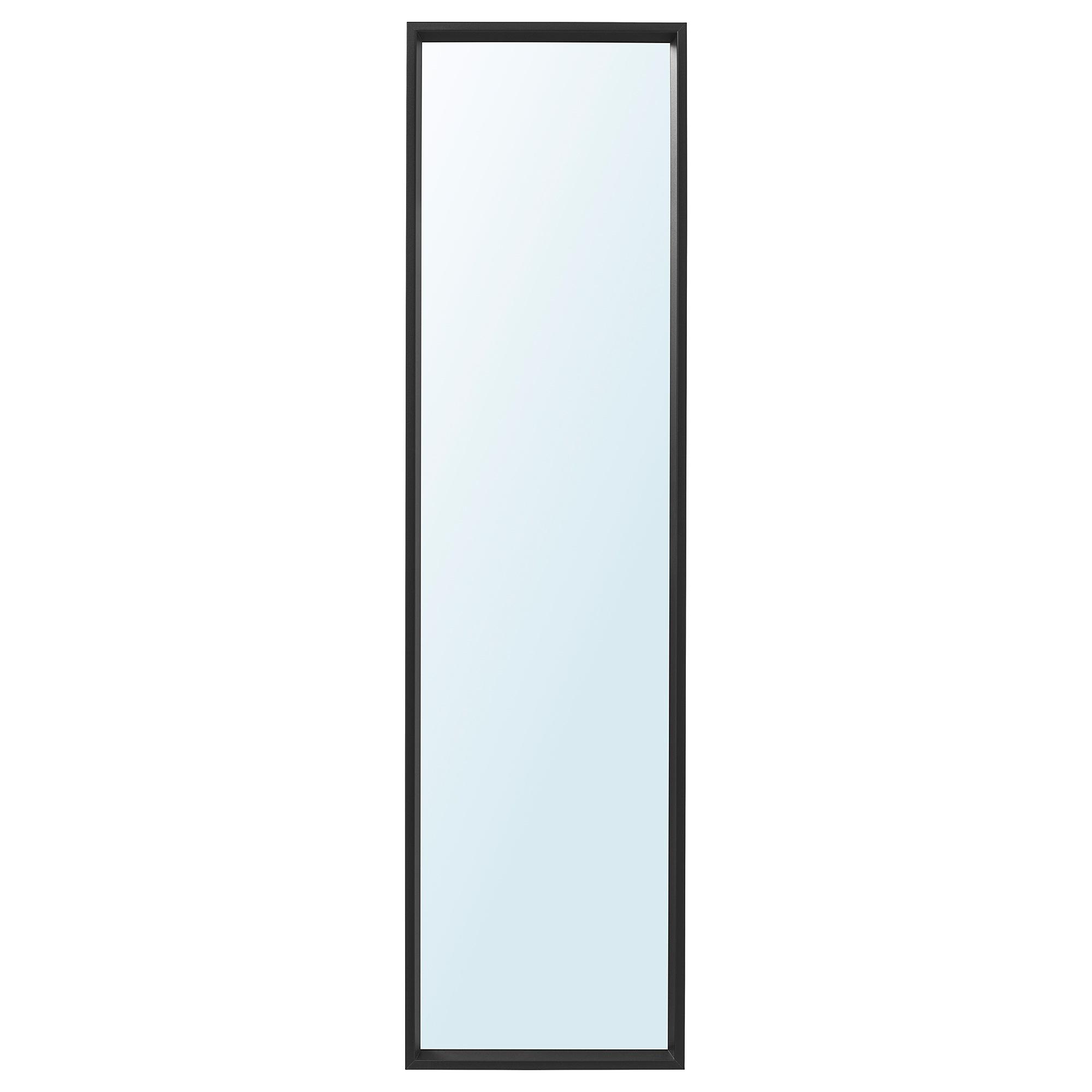이케아 NISSEDAL 니세달 거울 40x150 cm, 블랙 003.203.13