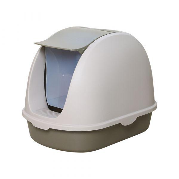 플립형 묘래박스 고양이 화장실 캣츠 배변통 변기통 대형 배변판 애완 반려 로마샌드, 초록색