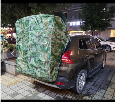 이효리 제주 속초 감성 카박 도킹 차량 후방 연결 차박하기좋은차 차박 텐트, 디지털 위장