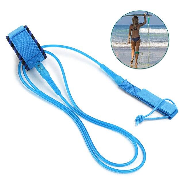 셀프 서핑보드 패들보드 끈 리쉬코드 분실방지 코일, 블루