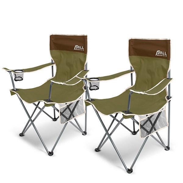 폴마운틴 필드 캠프체어세트 1+1/캠핑의자 낚시의자, 카키