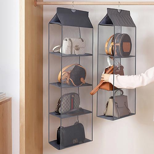 크린비 틈새 가방 보관 수납 정리대 옷방 드레스룸 정리 명품 백 진열 쇼케이스, 2단