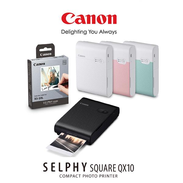 캐논 휴대용 포토프린터 SELPHY SQUARE QX10, 화이트