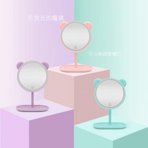 미래 무드 테이블 탑 스핀들 화장대 테이프 스토리지 아케이스 독창적 심플 양면 슈나우져미용 공주거울, 329 담아한  보라색/
