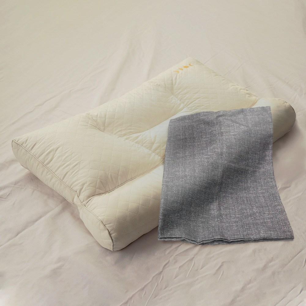 [수면공감] 우유베개 라텍스 기능성 경추베개+커버 세트, 전용 폴리 커버