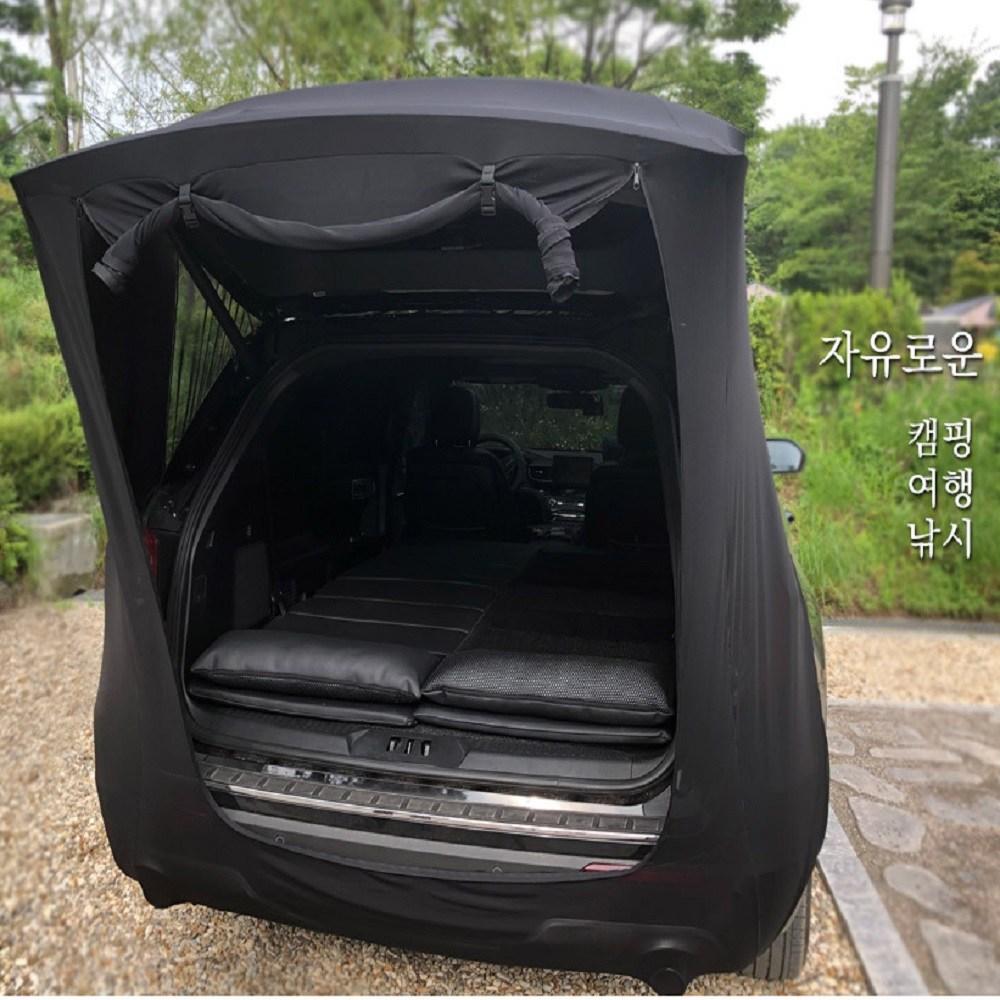 한국코리스 차박 캠핑 차량 트렁크 모기장 텐트 중형 대형 SUV RV, 블랙