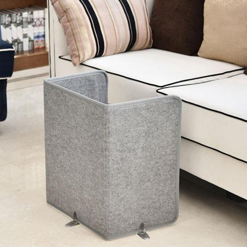 창강 가정용 사무실용 발보온기 폴딩가능 온열 전기 발난로, 그레이, 창강 발보온기-3면