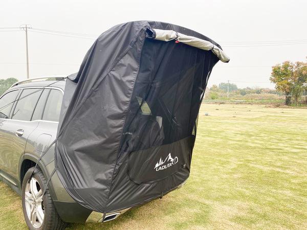 [고급] 차박 SUV 카 테일 텐트 아웃 도어 자율 주행 투어 바베큐 캠핑 연장 선크림 트렁크 텐트 카 텐트, 검은 색 (철관 없음) (POP 5613917472)