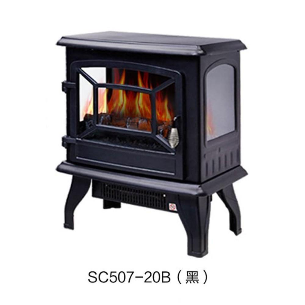 겨울캠핑난방 무동력팬 온풍순환 3D 불꽃 시뮬레이션 콘솔 인테리어 전자 벽난로 스토브 동계 캠핑난로 화목 난로, DNSD507-20B 블랙