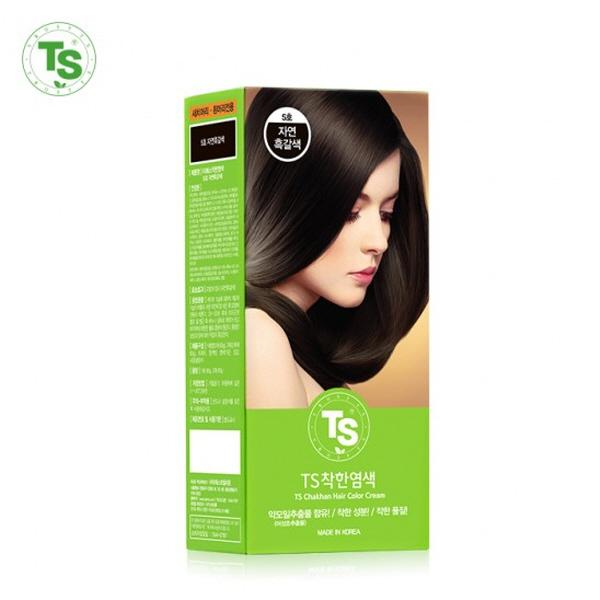 TS 착한 염색약 120g/순한염색 NO PPD, TS 착한염색약 6호 진한갈색/1개