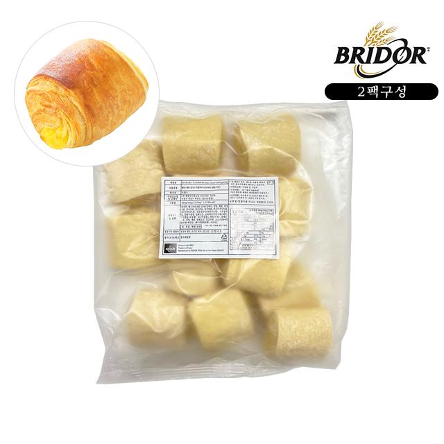 브리도 크로와상 냉동생지 베이커리빵 에어프라이어 전용 모닝빵 디저트 미니 커스타드 2팩, 40g