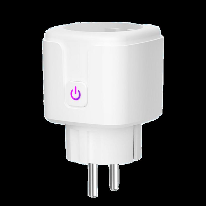 WiFi 스마트 플러그 EU 미국 영국 어댑터 무선 원격 음성 제어 전원 에너지 모니터, 1 PCS, CN, 16A EU 플러그 (POP 5582023048)