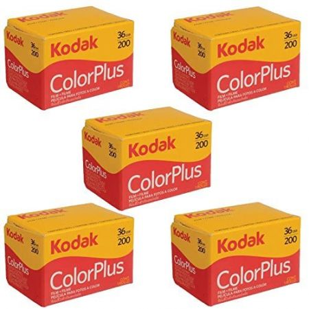 5 Rolls Of Kodak colorplus 200 asa 36 exposure (Pack of 5) PROD330003193, One Color, 상세 설명 참조0