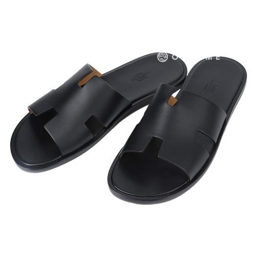 [에르메스] 신발 슬리퍼 레더 이즈미르 NOIR 42사이즈