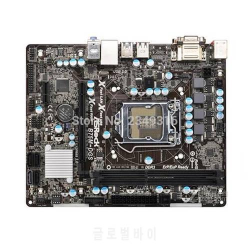 ASRock B75M-DGS 데스크탑 마더 보드에 사용 된 원본 LGA 1155 B75 USB3 마, 상세내용참조