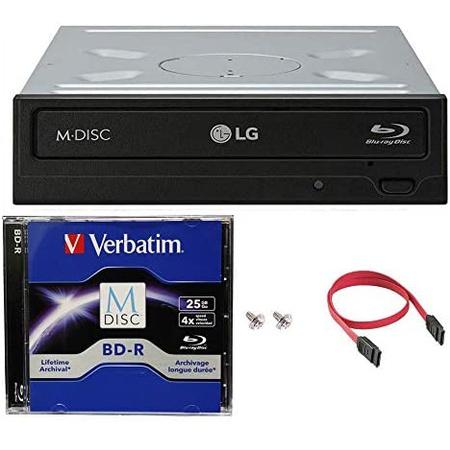 LG WH14NS40 16X 블루레이 BDXL DVD CD 내장 버너 드라이브 번들 with Free 25GB M-DISC BD SATA 케이블, 상세 설명 참조0