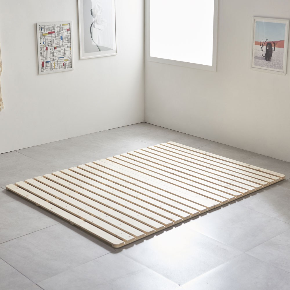 그린우드 원목 저상형 패밀리침대 매트리스 깔판 침대 프레임, 소나무 원목 깔판 퀸(Q)