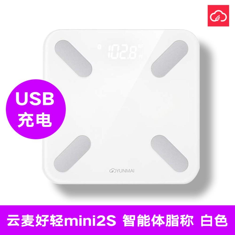 샤오미 미스케일2 디지털 체중계 셀프 다이어트 인바디 측정, 1, 클라우드 마이크 라이트 미니2S-화이트-충전형