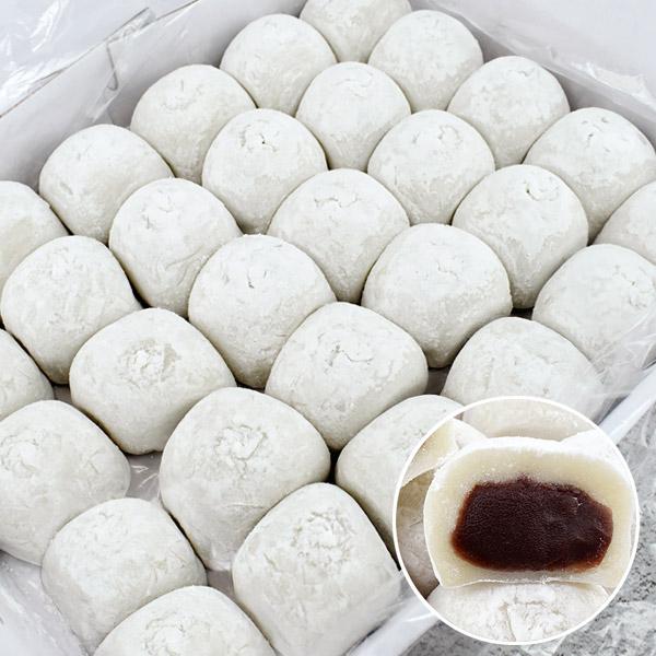 오버파워푸드 찹쌀떡 모찌 선물용 1.8kg (60gx30개) 찰떡 합격기원 선물 세트 우리쌀 왕, 단품