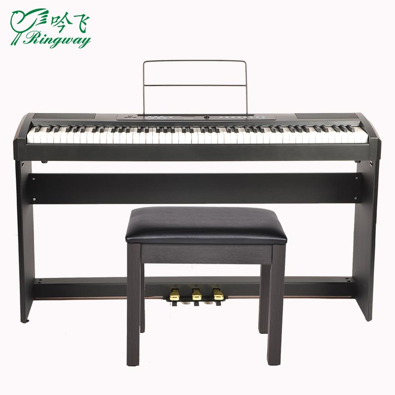 디지털피아노 휴대용 전기피아노 88건 전문 가정용 RP-25초보자 등급고시 디지털 스마트 전자 피아노, T02-RP-25건 블랙 본체+나무받침대