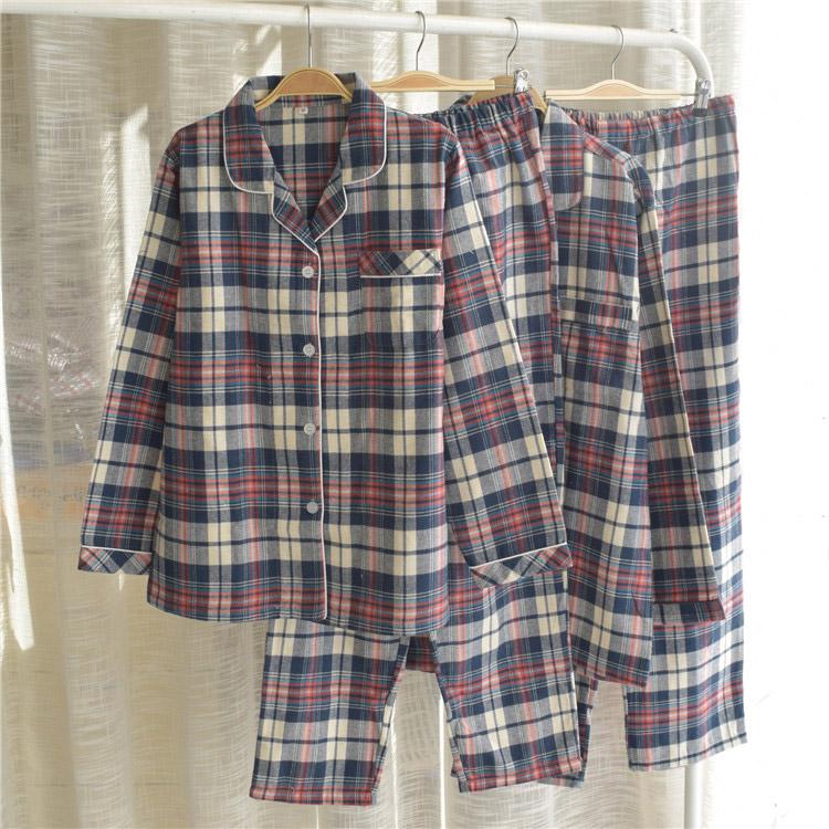 브리이에 기모멀티체크 잠옷세트 커플 가족 파자마 선물용 홈웨어