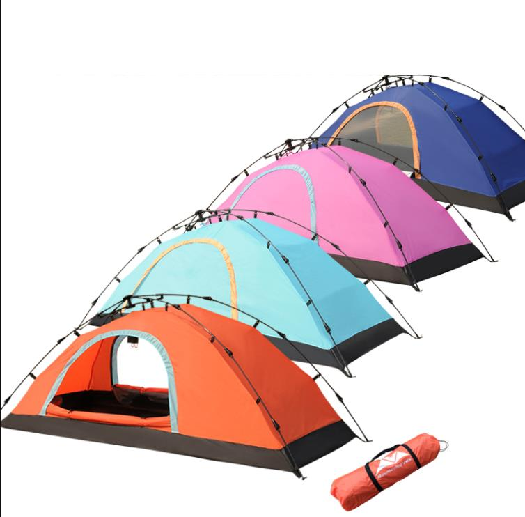 플레이마린 야전침대용 초경량 원터치1인 텐트+ 배게 돗자리, 스카이블루