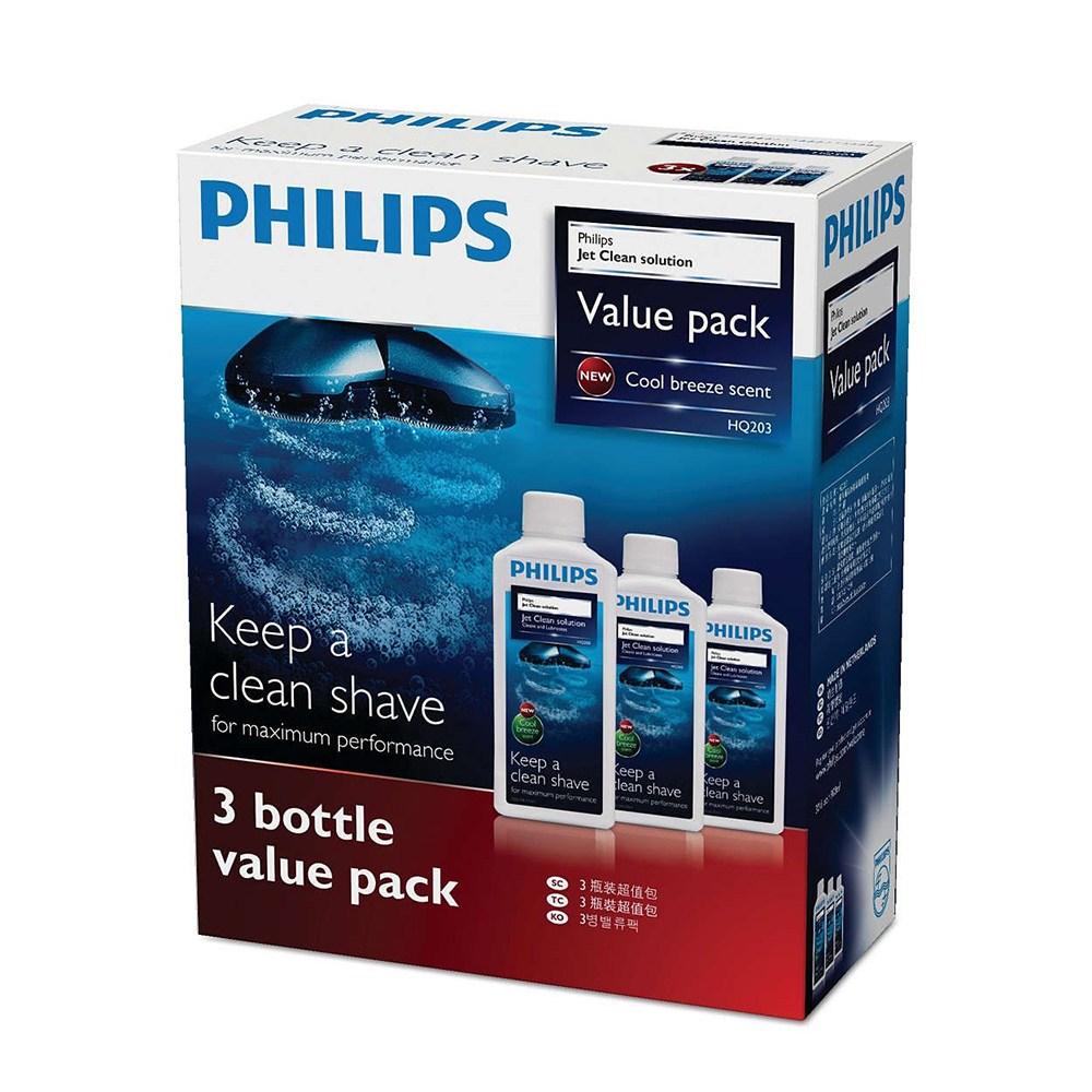 필립스 필립스(PHILIPS) 면도기 세정액 젯클린 300ml 3개 HQ203 61, HQ203/61 (B00MUMYP20)