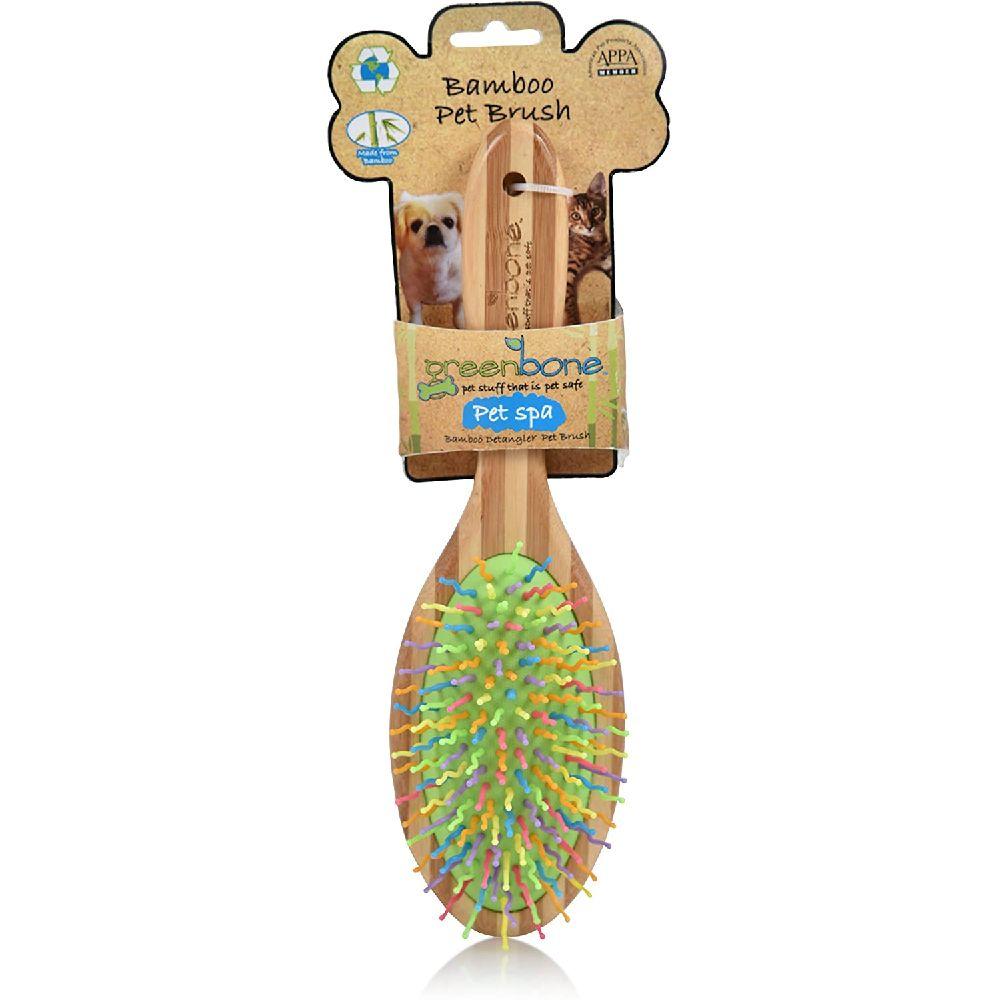 Greenbone 지속 가능한 재료 모든 자연적인 대나무 애완 동물 미용 브러쉬 제작, 상세페이지참조, Detangling Brush