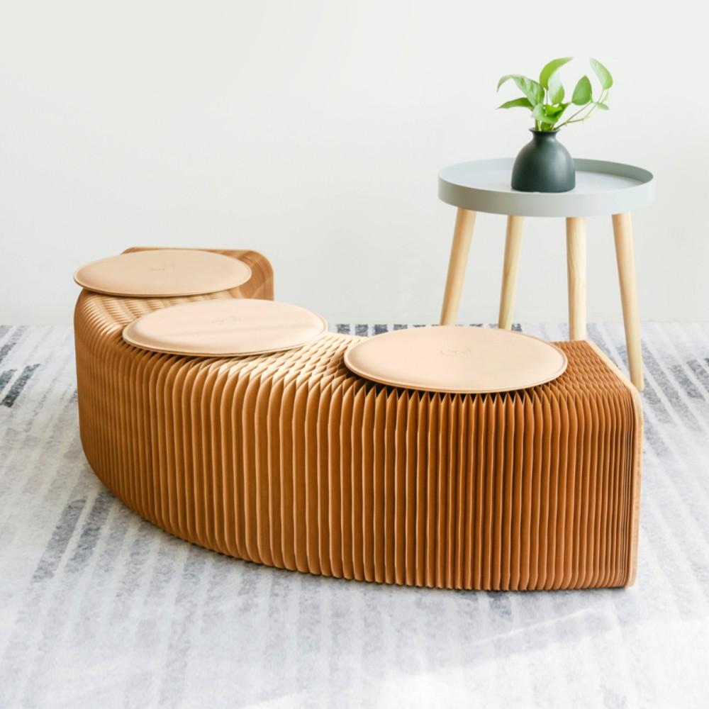 창의적인 인테리어 종이 걸상 접이식 의자 선물 르네상스 가구 신축 소파, 9인승(28cm 높이)