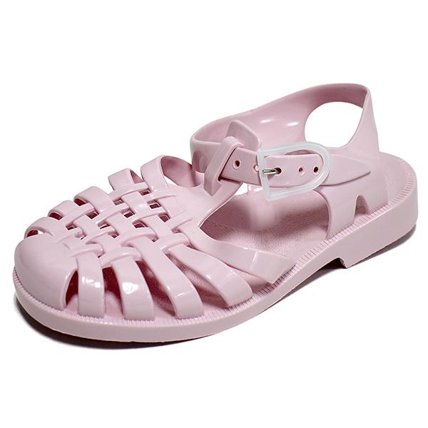 메듀즈 SUN 201 샌들 로즈파스텔 여자 젤리슈즈 스트랩 여름 버클 신발 ROSEPASTEL