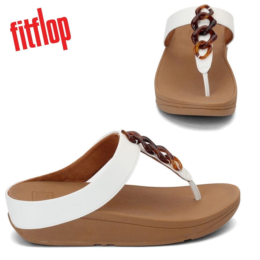 핏플랍 Fino Thong 여성 샌들 화이트 브라운