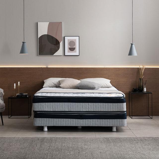 아메리카나베드 알레인 양면 퀸 투매트리스 호텔 침대, 수페리어(상단+하단+다리)