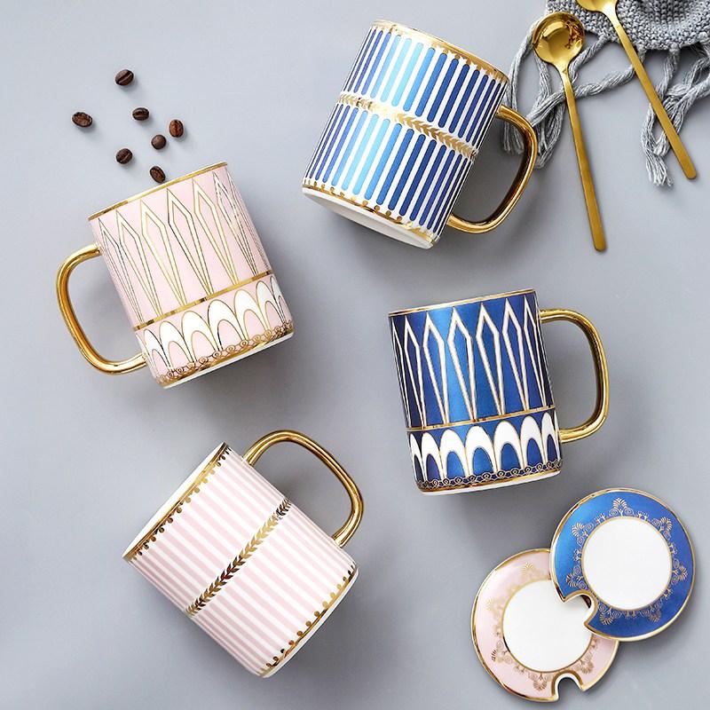 코코정 북유럽스타일 커피잔 예쁜컵세련디자인 커플머그컵CP1902, 세트(색상메모로 남겨주세요), 2개