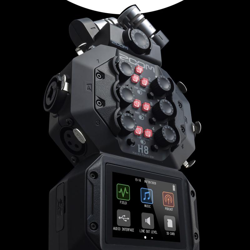 일본정품 ZOOM H8 정품만AS가능 유튜브 ASMR마이크 먹방유튜버 악기연주 층간소음 프로녹음기 콘서트 밴드 그룹사운드 브이로그 팟캐스트 방송장비 1인방송국, ZOOM H8(16GB)