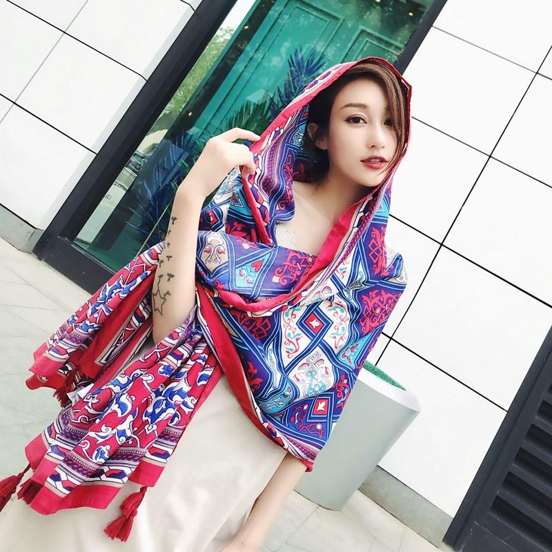 나래쇼핑몰 숄 여성 여름 레쉬 스카프 멀티 자외선차단 비치 수건 오버사이즈 비단스카프