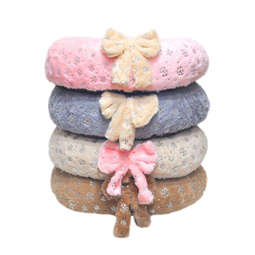 딩동이네 이지펫 눈꽃방석 초대형 강아지방석 쿠션 분리형 논슬립 애견침대, 핑크