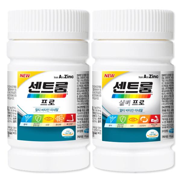 센트룸 프로 120정 + 실버 프로 120정 성인 남녀 멀티비타민 종합비타민 (유효21년 07월), 단품