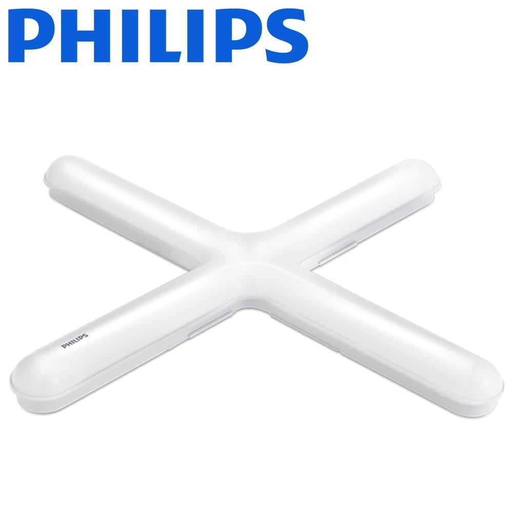 필립스 슬림 LED 십자등 50w 등기구 형광등 천장등 방등, 1개, 주광색