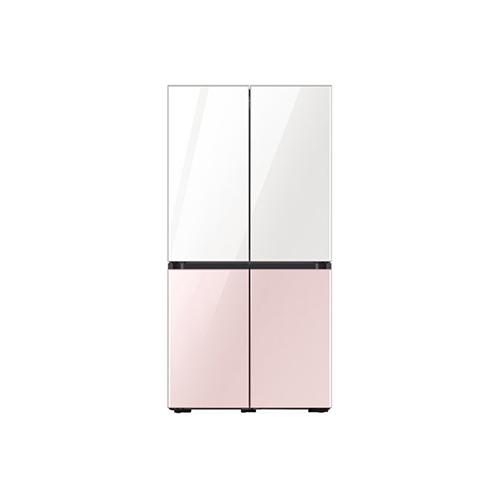 삼성 NEW 비스포크 4도어 870L 화이트+핑크 냉장고, RF85T9141APWP