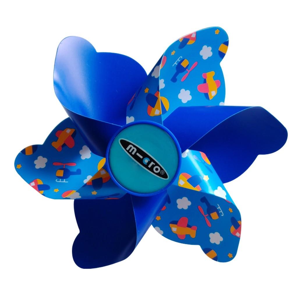 마이크로킥보드 21세기킥보드 악세사리 스트리머 바람개비 리본 벨 스트랩, 파란 만화 풍차