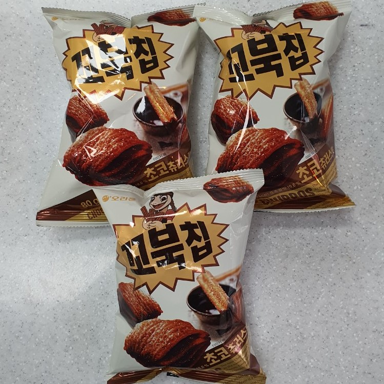 오리온 꼬북칩 초코츄러스 과자, 80g, 3개