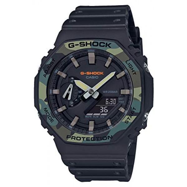 [카시오] 시계 지샥 유틸리티 컬러 카본 코어 가드 구조 GA-2100SU-1AJF 남성 블랙