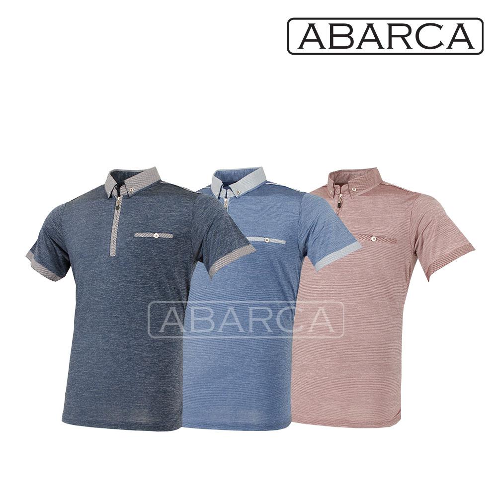 ABARCA 남성 여름 스트라이프 인견 체크 반팔 아이스 쿨 골프카라티YD1283 (POP 5650267909)