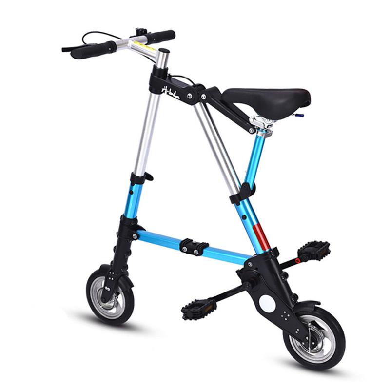 8 인치 작은 자전거 접이식 미니 10, 레드