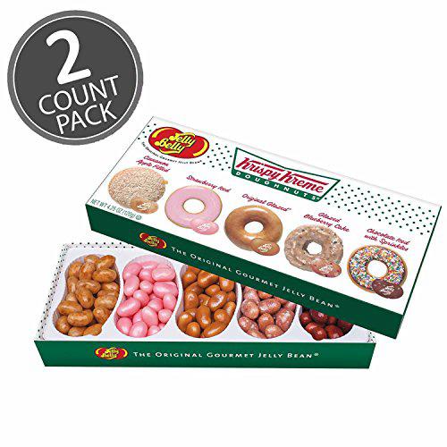 Jelly Belly Krispy Kreme Doughnuts Jelly Beans Mix 4.25 oz Gift Box (2 Pack) 젤리 벨리 크리스피 크림 도넛 젤리 빈 믹, 1