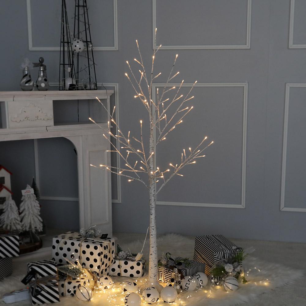 조아트 크리스마스트리 자작나무트리 LED 감성트리 화이트 120CM 특별한트리 인조나무, 감성트리 화이트자작나무 1.2M