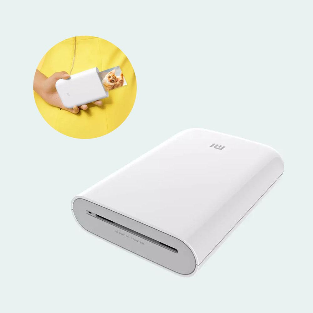 샤오미 미지아 휴대용 포켓 포토 ZINK프린터 AR 즉석 인화기, 인화지 50매-12-4980296009