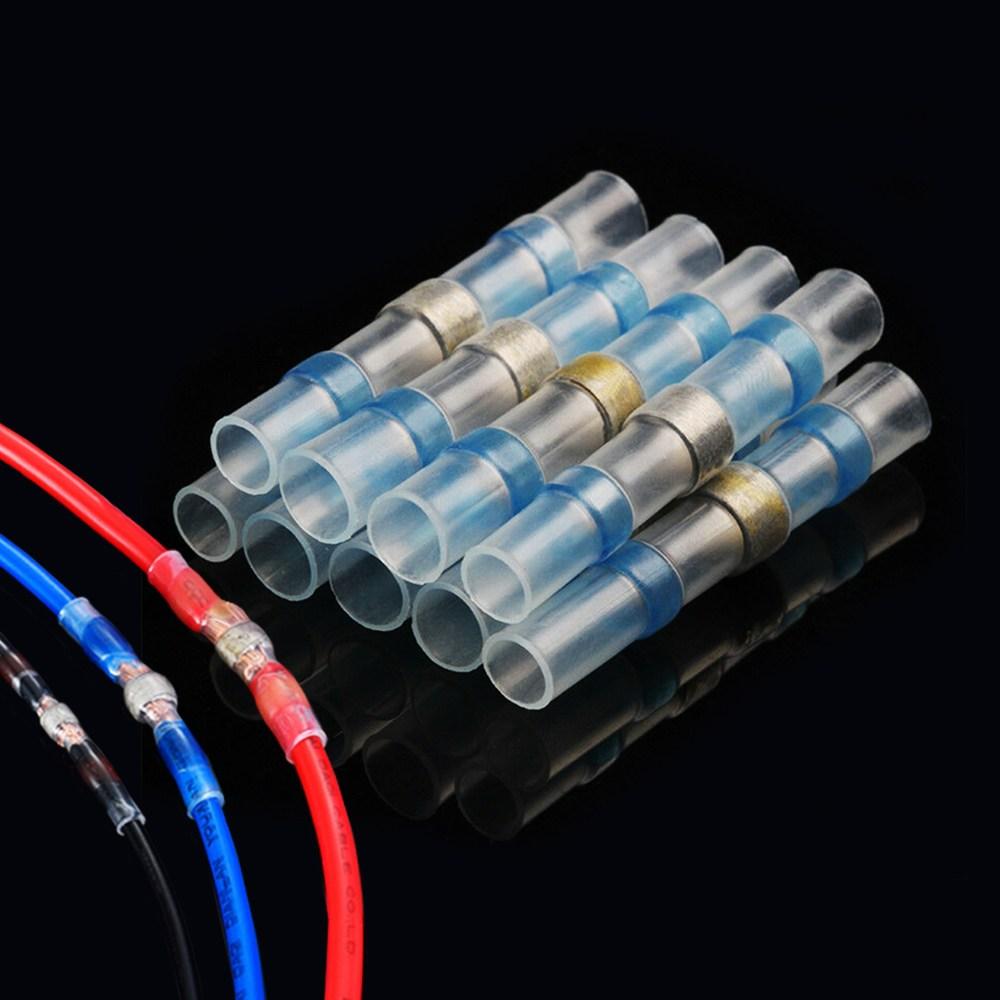sleeve 열수축 납땜 와이어 터미널 방수 슬리브 전선 커넥터 전선연결 블루 4.5mm 1세트(10개), 1세트