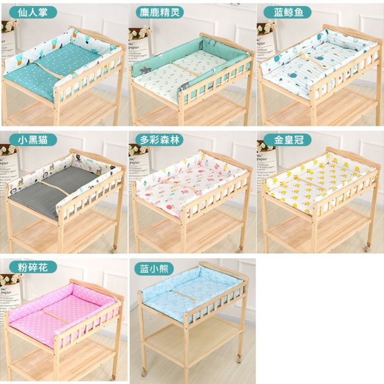 신생아 원목 기저귀 교환대 이케아, 코튼 제품 (참고 색상)